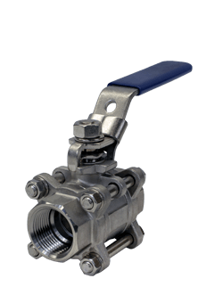 1000 WOG 3-piece Stainless Steel Ball Valve B04 from Flow+ Image