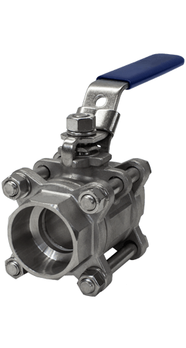 1000 WOG 3-piece Stainless Steel Ball Valve B04s from Flow+ Image