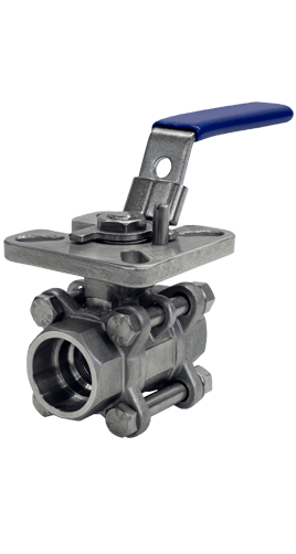 1000 WOG 3-piece Stainless Steel Ball Valve B05s from Flow+ Image