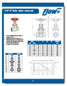 200 WOG Cast Stainless Steel Gate Valve from Flow+ Brochure