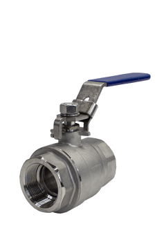 2000 WOG 2-piece Stainless Steel Ball Valve B02 from Flow+ Image