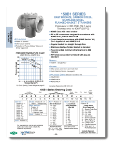 Class 150 Flanged Bronze Basket Strainer from SSI Brochure