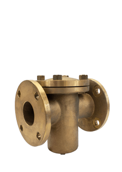 Class 150 Flanged Bronze Basket Strainer from SSI Image